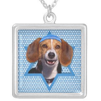 Hanukkah Star of David - Beagle Silver Plated Necklace