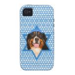 Hanukkah Star of David - Bernese Mountain Dog Case-Mate iPhone 4 Cases