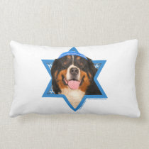 Hanukkah Star of David - Bernese Mountain Dog Lumbar Pillow