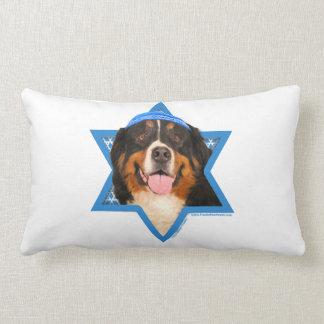 Hanukkah Star of David - Bernese Mountain Dog Lumbar Pillow