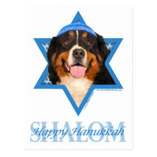 Hanukkah Star of David - Bernese Mountain Dog Postcard