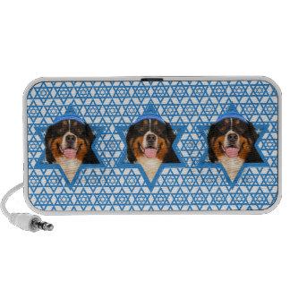 Hanukkah Star of David - Bernese Mountain Dog Notebook Speakers