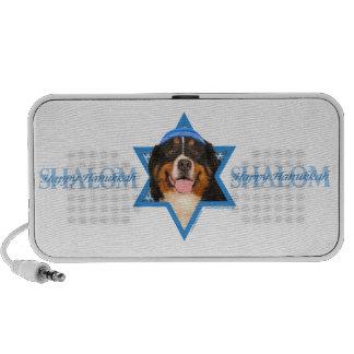 Hanukkah Star of David - Bernese Mountain Dog Notebook Speaker