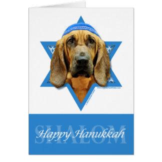 Hanukkah Star of David - Bloodhound Stationery Note Card