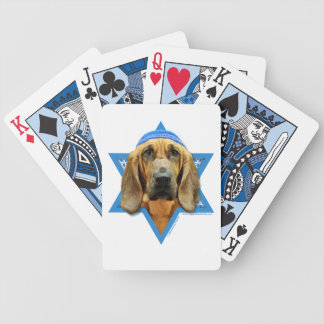 Hanukkah Star of David - Bloodhound Bicycle Card Deck