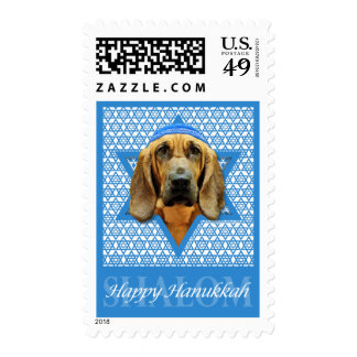 Hanukkah Star of David - Bloodhound Postage Stamp