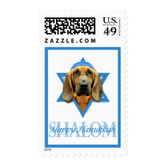 Hanukkah Star of David - Bloodhound Postage Stamps