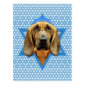 Hanukkah Star of David - Bloodhound Postcard