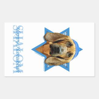 Hanukkah Star of David - Bloodhound Rectangular Sticker
