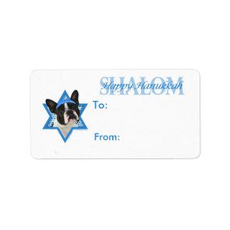 Hanukkah Star of David - Boston Terrier Label