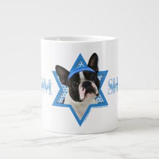 Hanukkah Star of David - Boston Terrier Large Coffee Mug