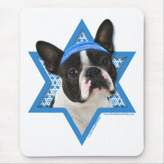 Hanukkah Star of David - Boston Terrier Mouse Pad