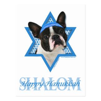 Hanukkah Star of David - Boston Terrier Postcard
