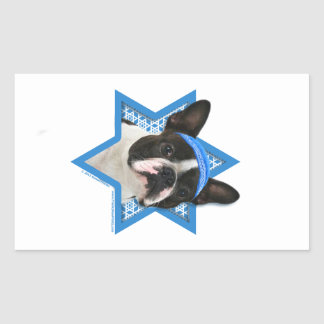 Hanukkah Star of David - Boston Terrier Rectangular Sticker