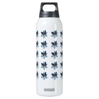 Hanukkah Star of David - Boston Terrier Thermos Water Bottle