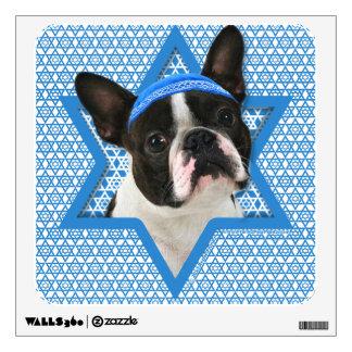 Hanukkah Star of David - Boston Terrier Wall Decal