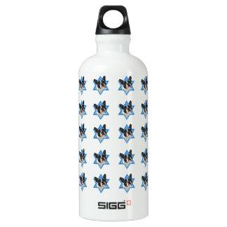 Hanukkah Star of David - Boston Terrier Water Bottle