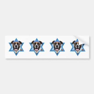 Hanukkah Star of David - Boxer - Vindy Car Bumper Sticker