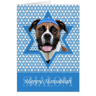 Hanukkah Star of David - Boxer - Vindy Card