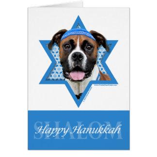 Hanukkah Star of David - Boxer - Vindy Stationery Note Card
