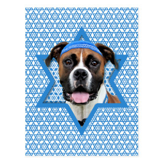 Hanukkah Star of David - Boxer - Vindy Postcard