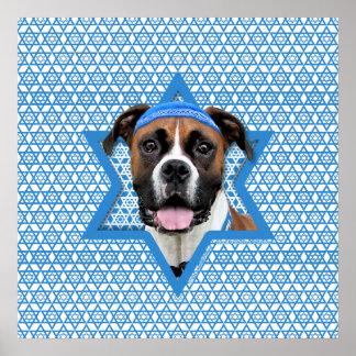 Hanukkah Star of David - Boxer - Vindy Poster
