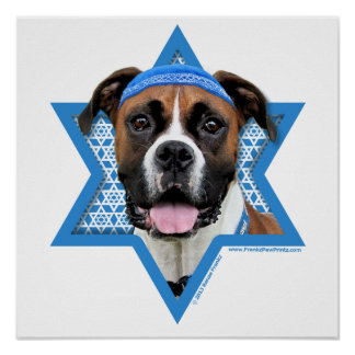 Hanukkah Star of David - Boxer - Vindy Print