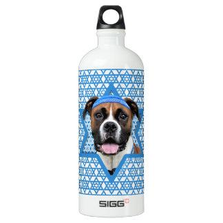 Hanukkah Star of David - Boxer - Vindy Water Bottle