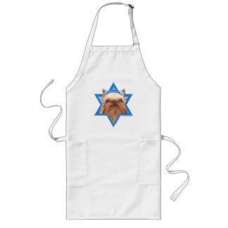 Hanukkah Star of David - Brussels Griffon Long Apron