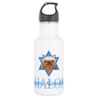 Hanukkah Star of David - Brussels Griffon 18oz Water Bottle