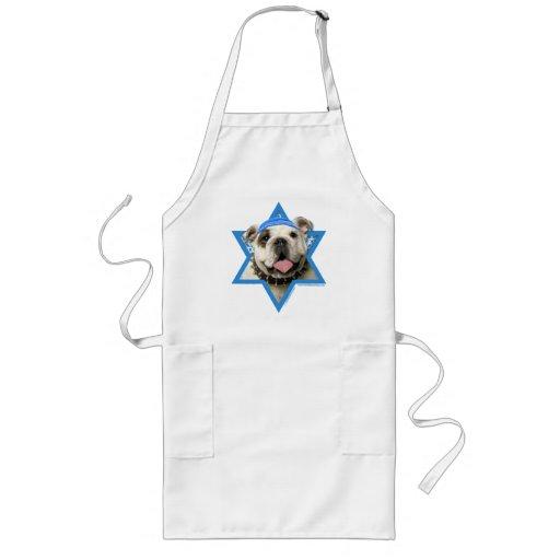 Hanukkah Star of David - Bulldog Long Apron