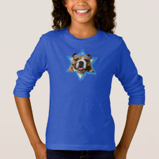 Hanukkah Star of David - Bulldog T-Shirt