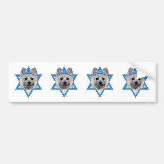 Hanukkah Star of David - Cairn Terrier - Teddy Bea Bumper Sticker