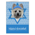 Hanukkah Star of David - Cairn Terrier - Teddy Bea Greeting Cards