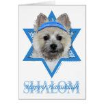 Hanukkah Star of David - Cairn Terrier  Teddy Bear Card