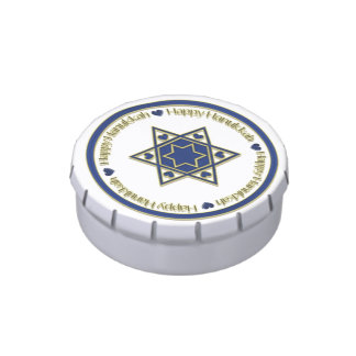 Hanukkah Star of David Jelly Belly Candy Tins
