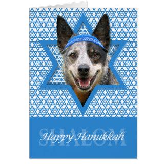 Hanukkah Star of David - Cattle Dog Stationery Note Card