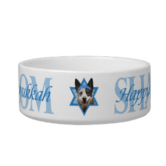 Hanukkah Star of David - Cattle Dog Cat Food Bowls
