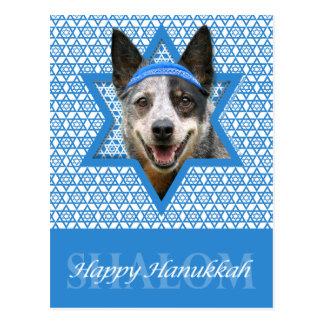 Hanukkah Star of David - Cattle Dog Postcard