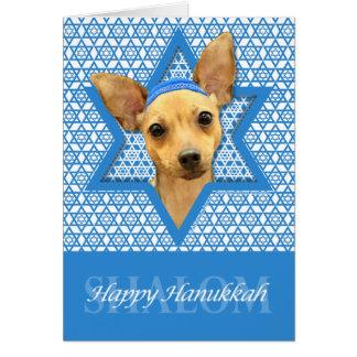 Hanukkah Star of David - Chihuahua Stationery Note Card
