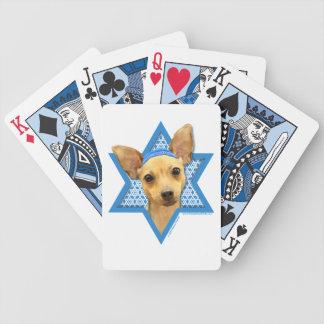 Hanukkah Star of David - Chihuahua Poker Deck
