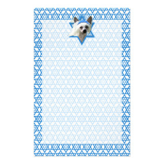 Hanukkah Star of David - Chinese Crested Stationery Paper