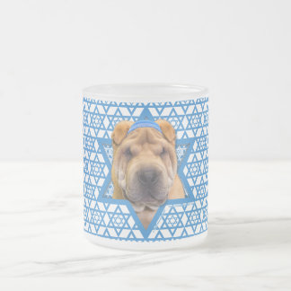 Hanukkah Star of David - Chinese Shar Pei Frosted Glass Coffee Mug
