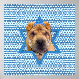 Hanukkah Star of David - Chinese Shar Pei Print