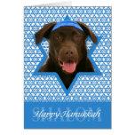 Hanukkah Star of David - Chocolate Labrador Cards