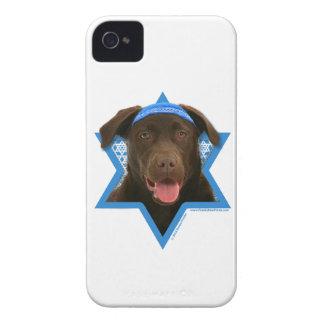 Hanukkah Star of David - Chocolate Labrador iPhone 4 Cases