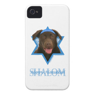 Hanukkah Star of David - Chocolate Labrador Case-Mate iPhone 4 Case