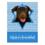 Hanukkah Star of David - Chocolate Labrador Post Cards