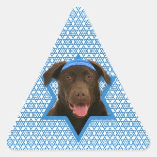 Hanukkah Star of David - Chocolate Labrador Sticker
