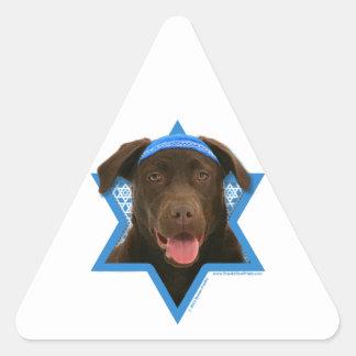 Hanukkah Star of David - Chocolate Labrador Stickers